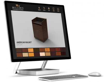 Miller's Millworks color picker on Microsoft Studio desktop