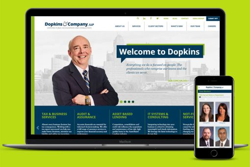 Dopkins website on laptop and smartphone