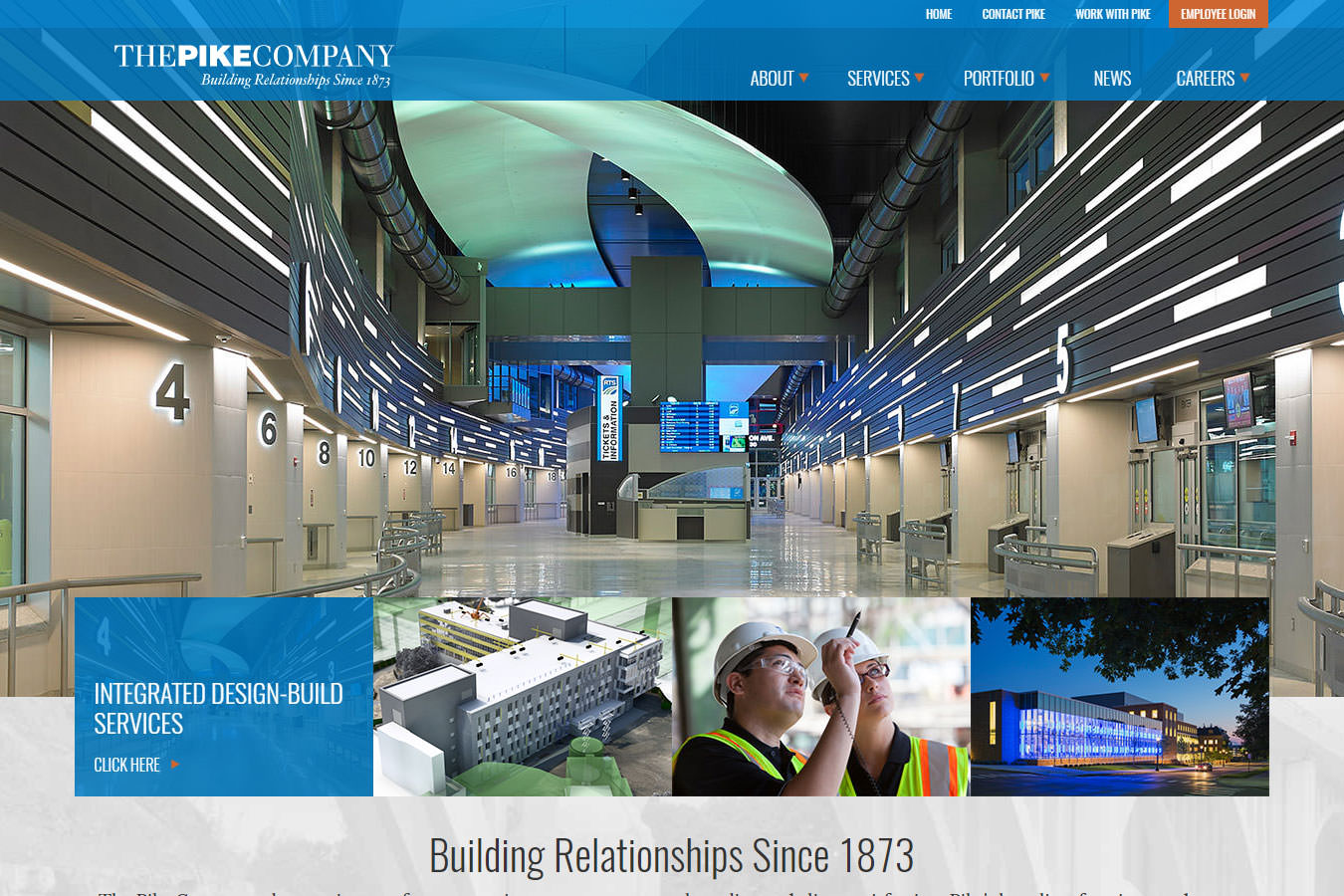 Pike Company website homepage