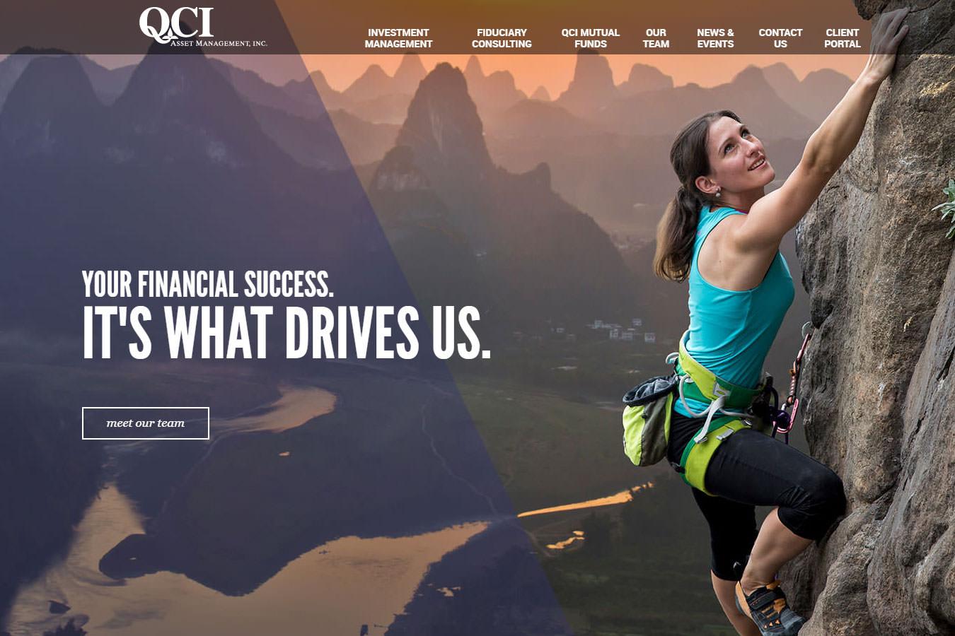 QCI website homepage