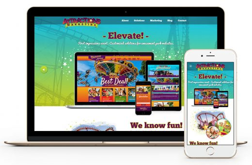 Attractions Marketing homepage on laptop and mobile