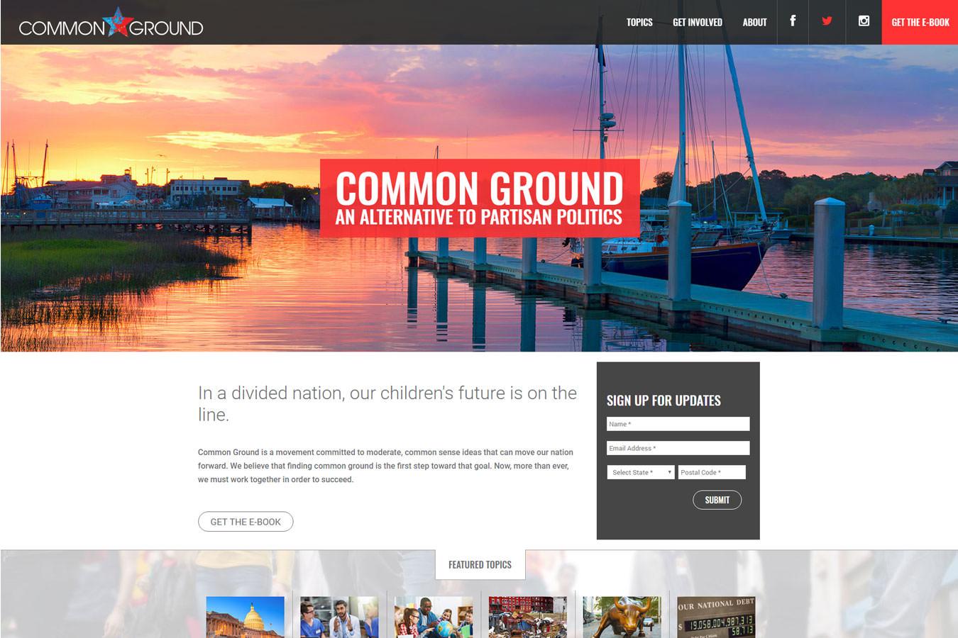 Common Ground website homepage