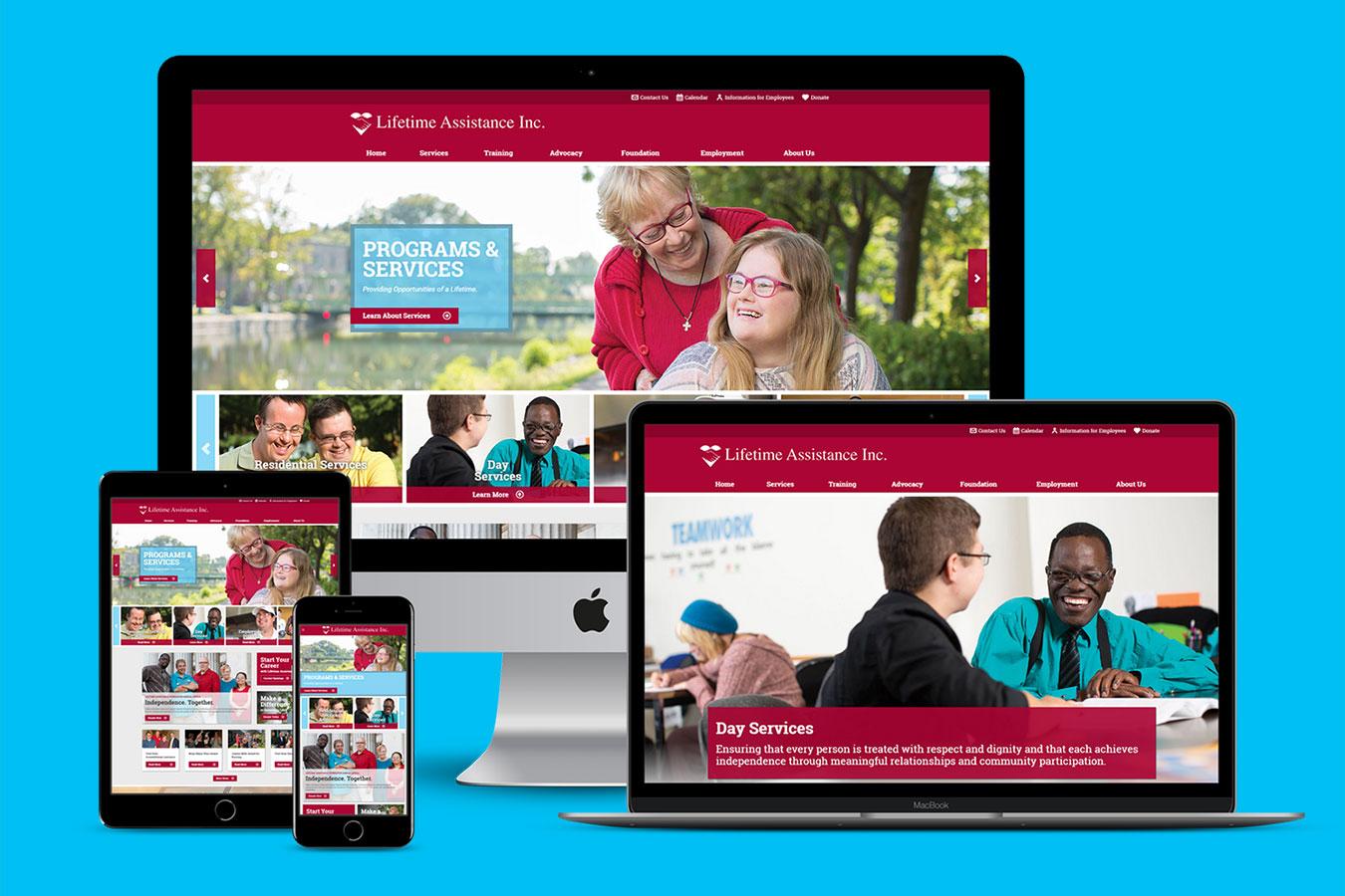Lifetime Assistance website on multiple devices