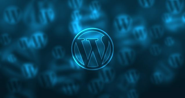 WordPress Logo repeated on blue background
