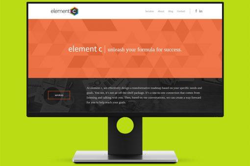 Element C on desktop, green background