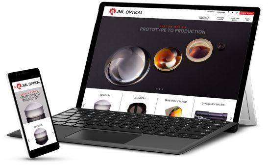 JML Optical on Microsoft Surface display and smartphone