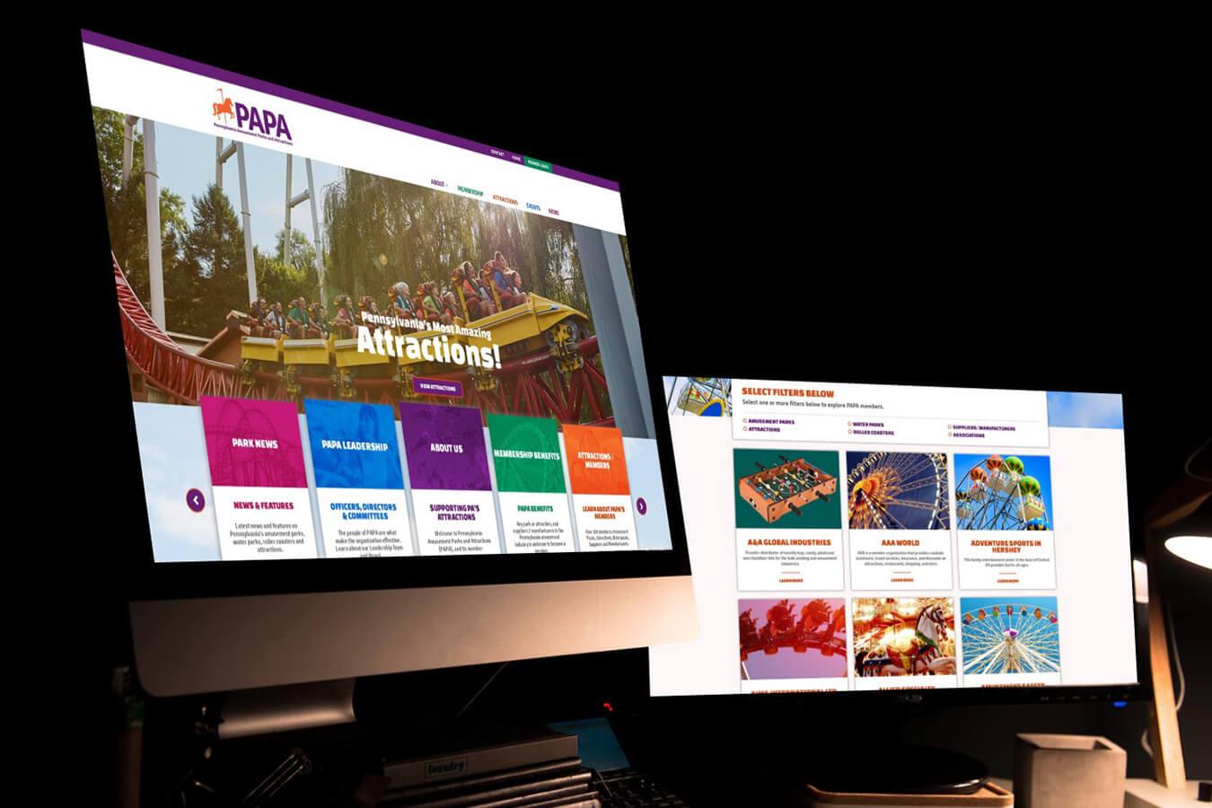 PA Amusement Parks Association website