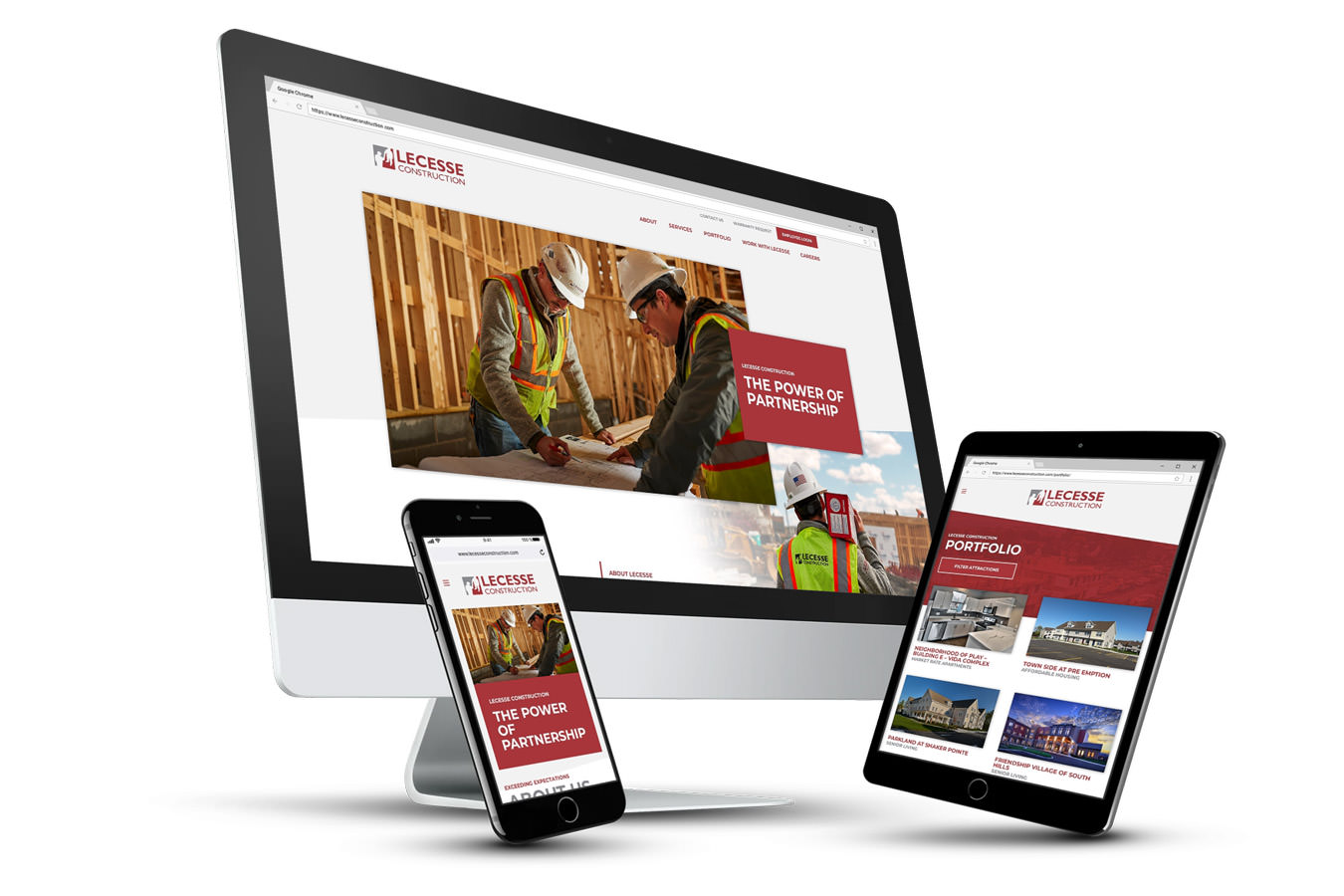 LECESSE Construction Website