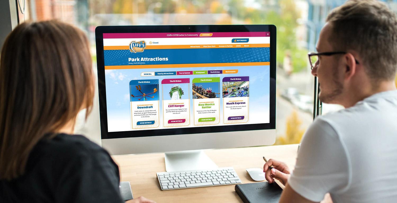 Cliffs Amusement Park Website